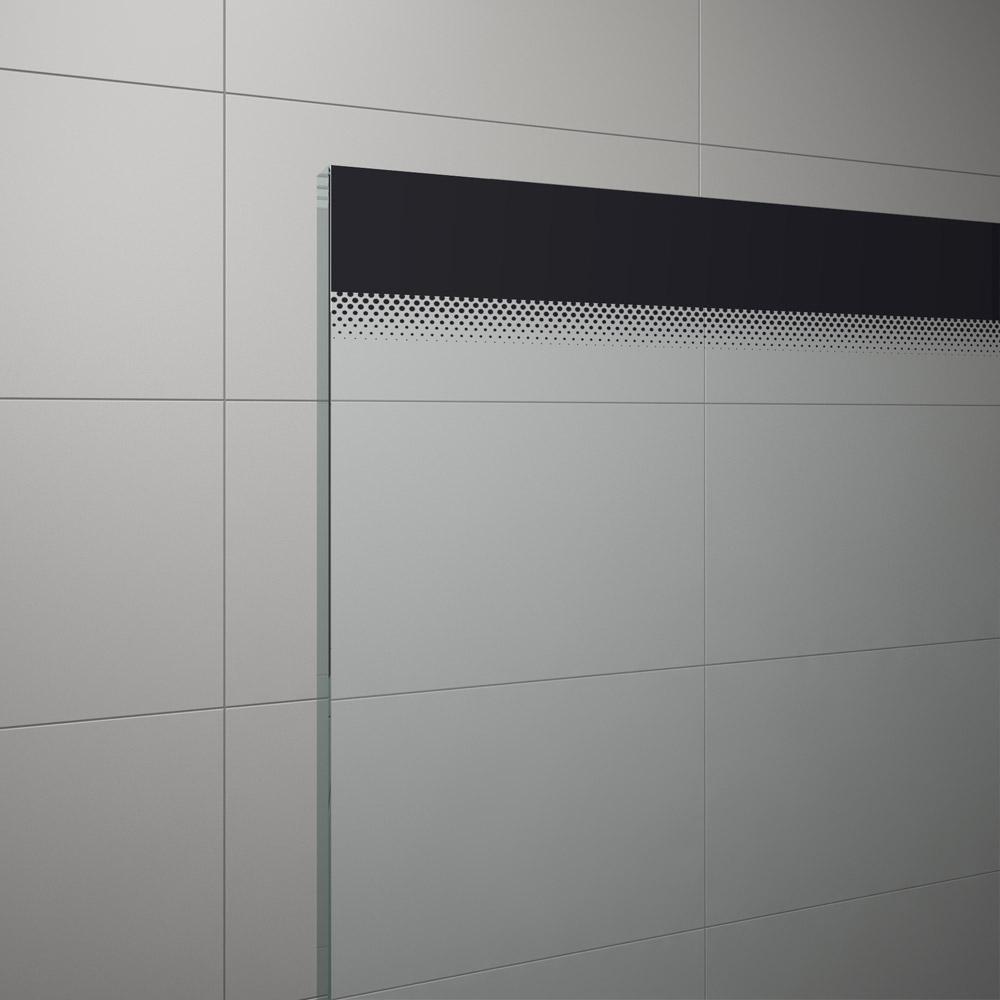 Szkło przeźroczyste z czarnymi pasami