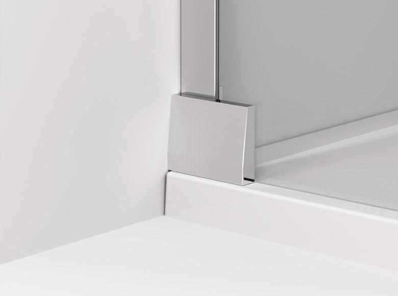 Coltarul de perete sticlă - sticlă/ vedere din exterior