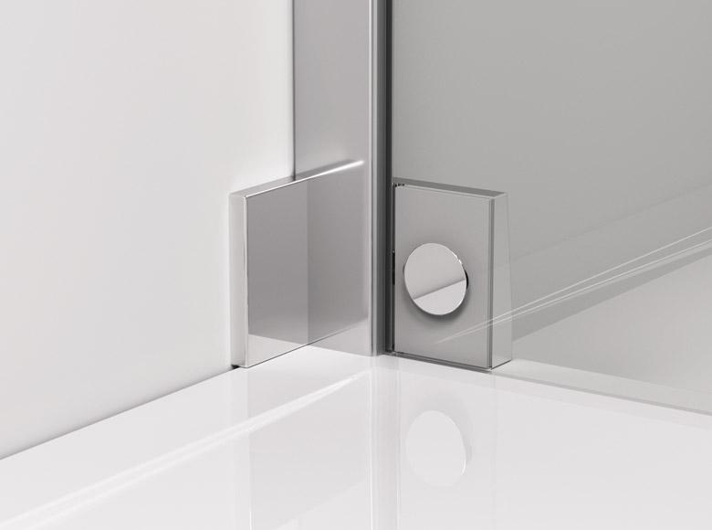Coltarul de perete sticlă - sticlă/ vedere din interior