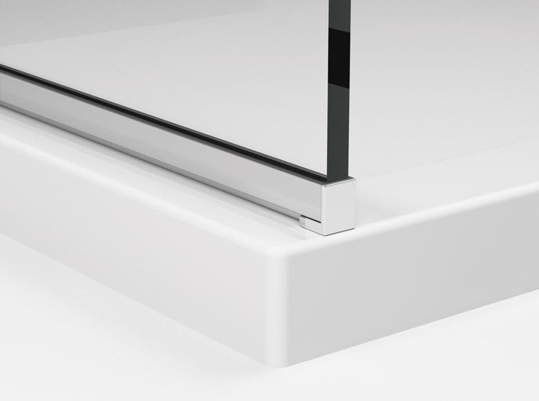 Profil aluminiowy chroniący dolną krawędź szkła