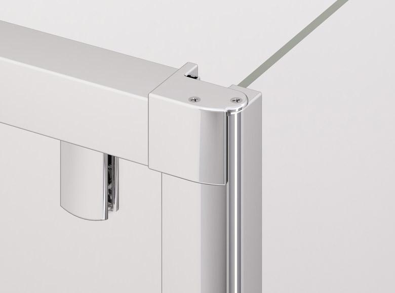 Клик система соединения  дверей с боковой стенкой