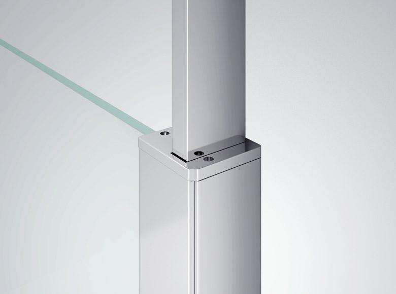 Element łączący ściankę ze wspornikiem pionowym