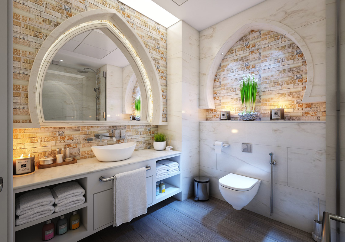 Mediterranean-style bathroom - the holiday climate