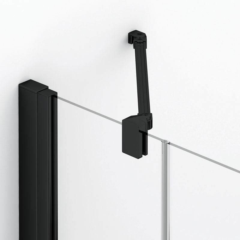Shower enclosure with black profiles - a new trend