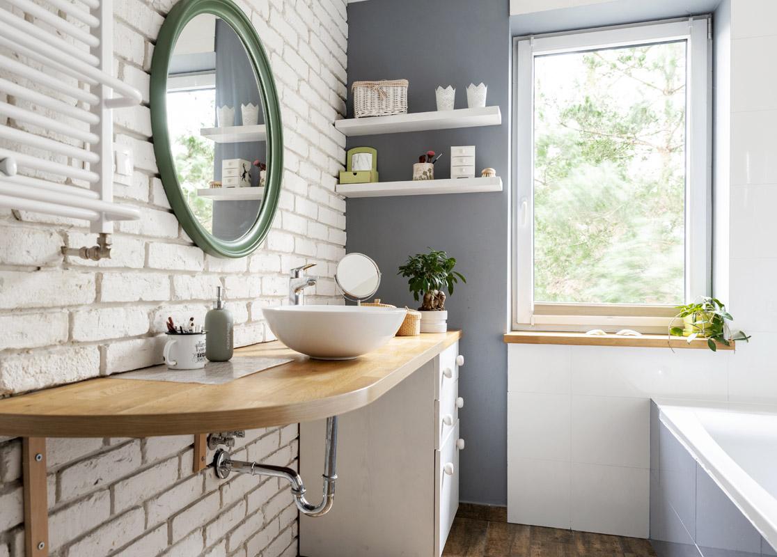 Koupelna ve skandinávském stylu
