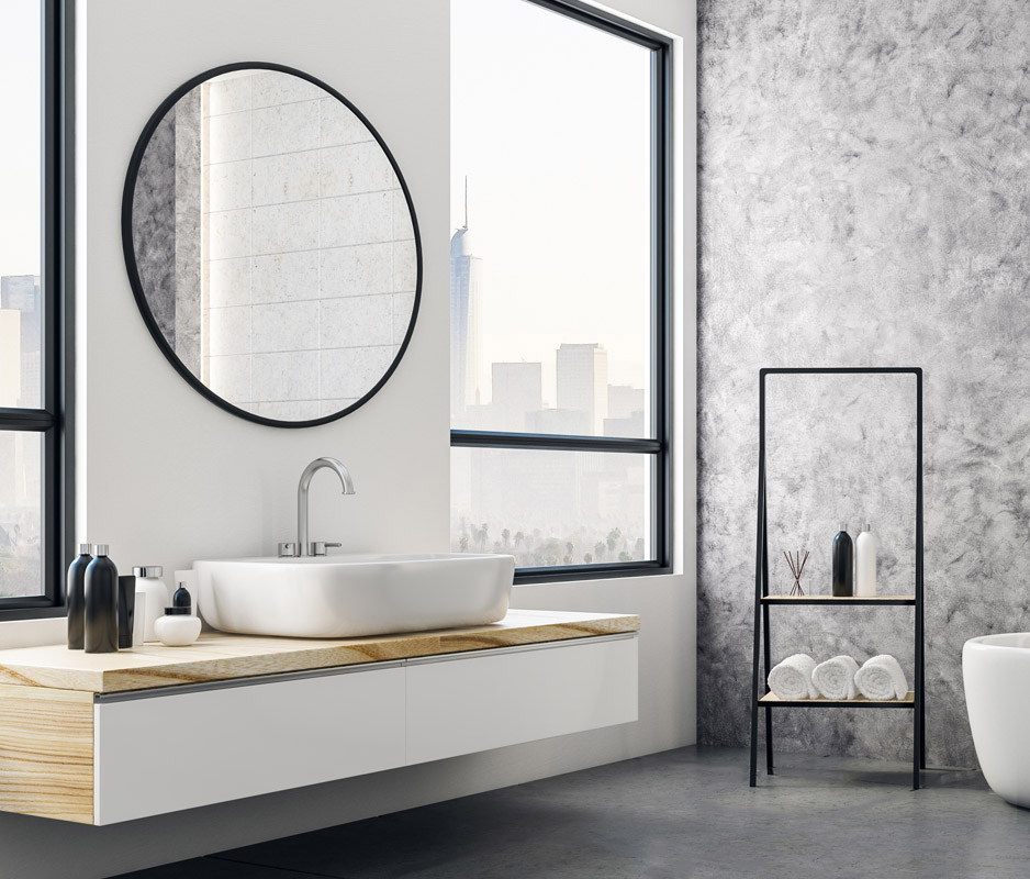 Bathroom without tiles