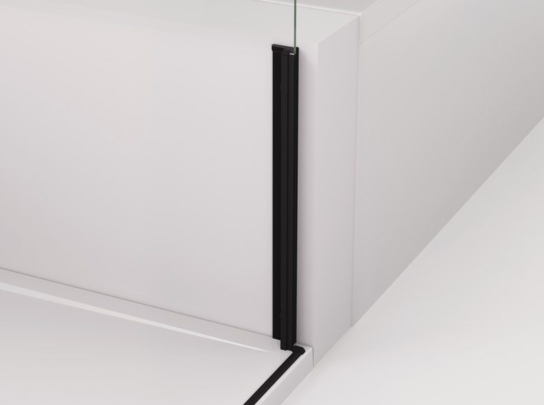 Profile with a magnetic seal for mounting a shortened side panel