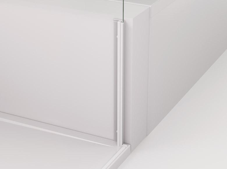 Profil z uszczelką magnetyczną do montażu skróconej ścianki bocznej