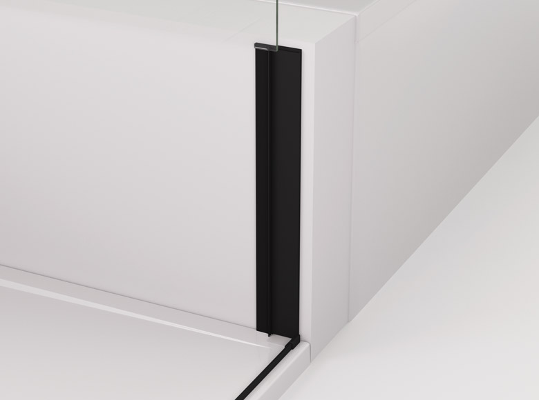 Mounting profile with a shortened side panel