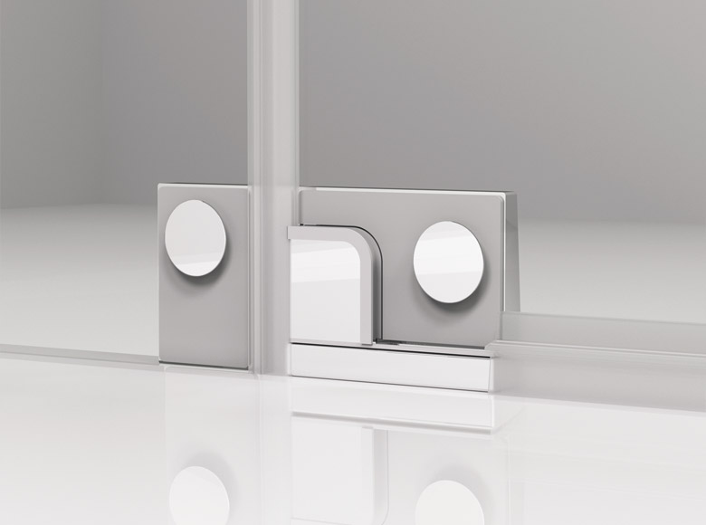 Glass-glass hinge - inside view