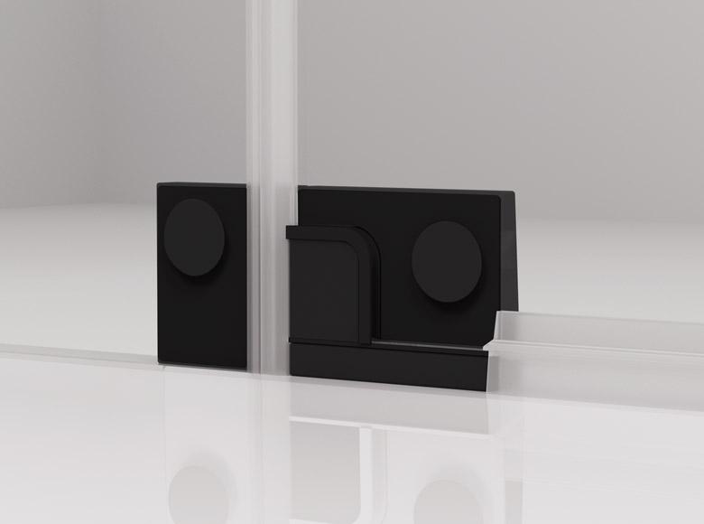 Glass-glass hinge - inside view