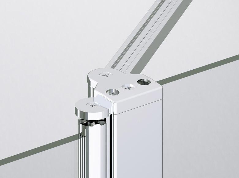 Profil obrotowy 180° z systemem noszenia drzwi w momencie otwierania