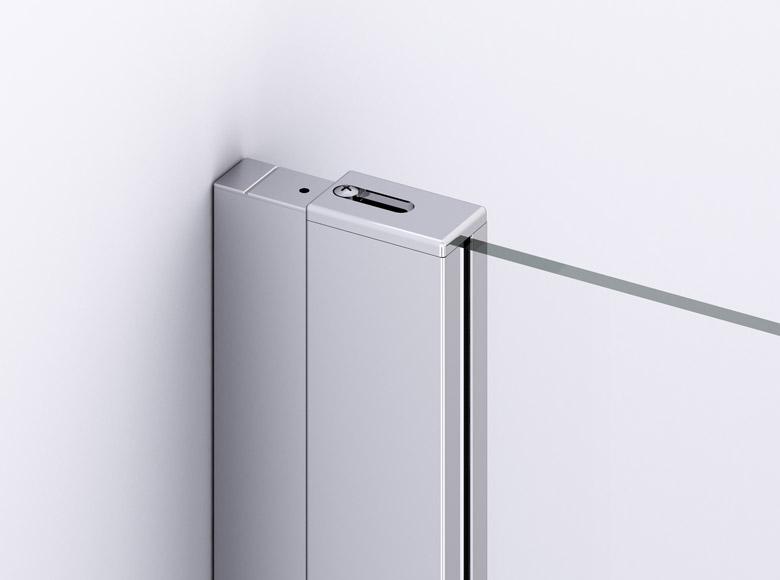 Profil cromat, plat cu design modern