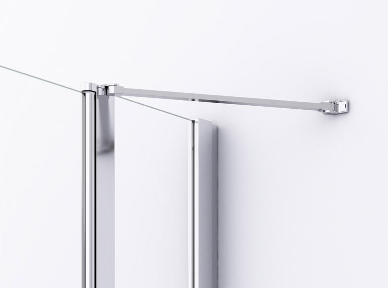 Stabilizator de colț integrat în profil cu lungime adaptată la lățimea părții fixe, pentru stabilitate optimă