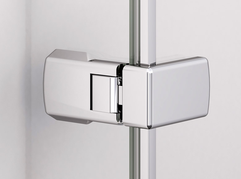 Glass-to-glass corner hinge