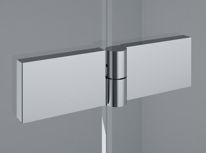 Zawias unoszony kwadratowy szkło-szkło