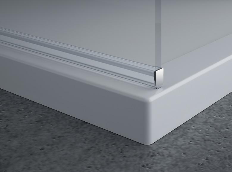 Profilé horizontal de seuil prémonté d'usine