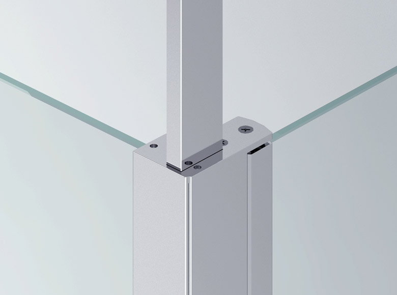 Соединение между боковой стенкой и распоркой в потолок