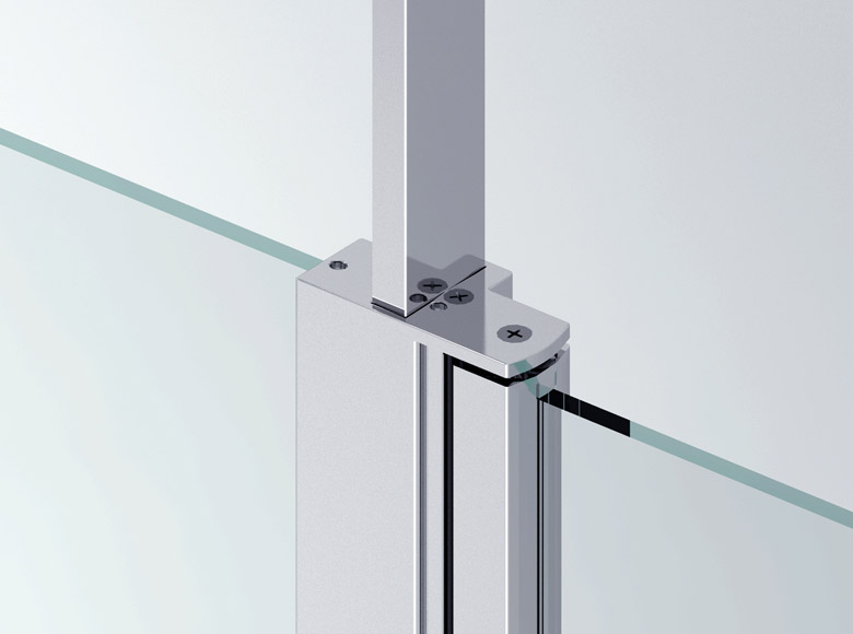 Junction of the fixed panel with the telescopic stand