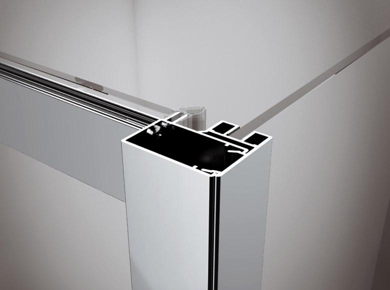 Клік- система з'єднання  дверей з бічною стінкою